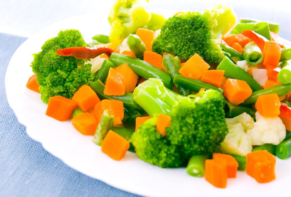 Zelenina vařená zdravě v páře